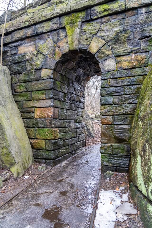 Ramble Stone Arch in the Ramble section of NYC