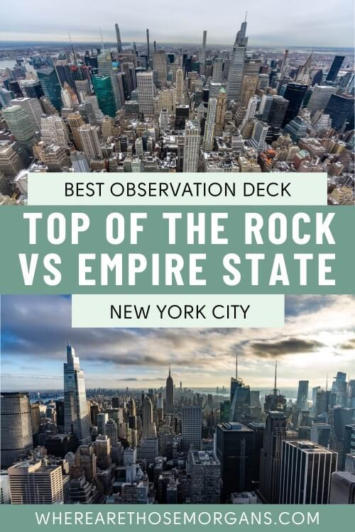 Best Observation Deck in NYC Top of the Rock vs Empire State Building