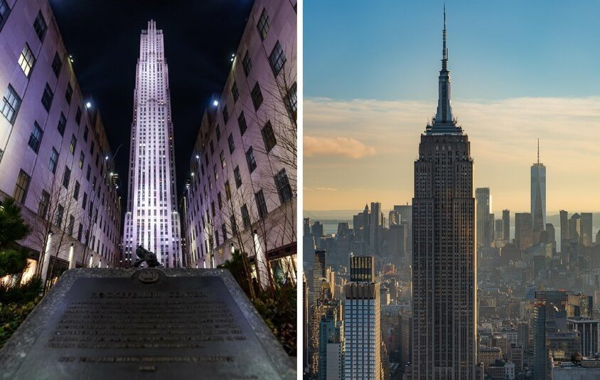 Best Observation Deck View in New York City - Top of the Rock Rockefeller Center or Empire State Building? The Ultimate Comparison