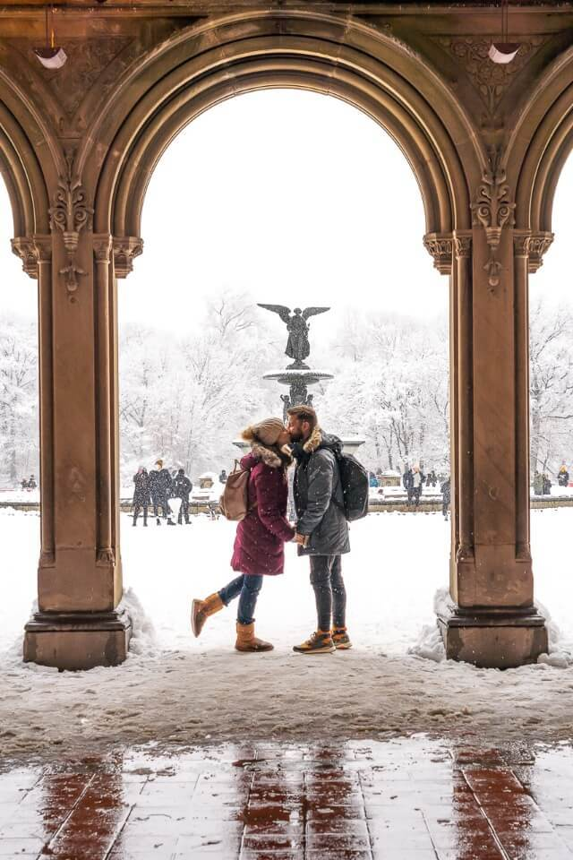Selfie and wedding photography favorite in central park new york city fountain arch at bethesda terrace
