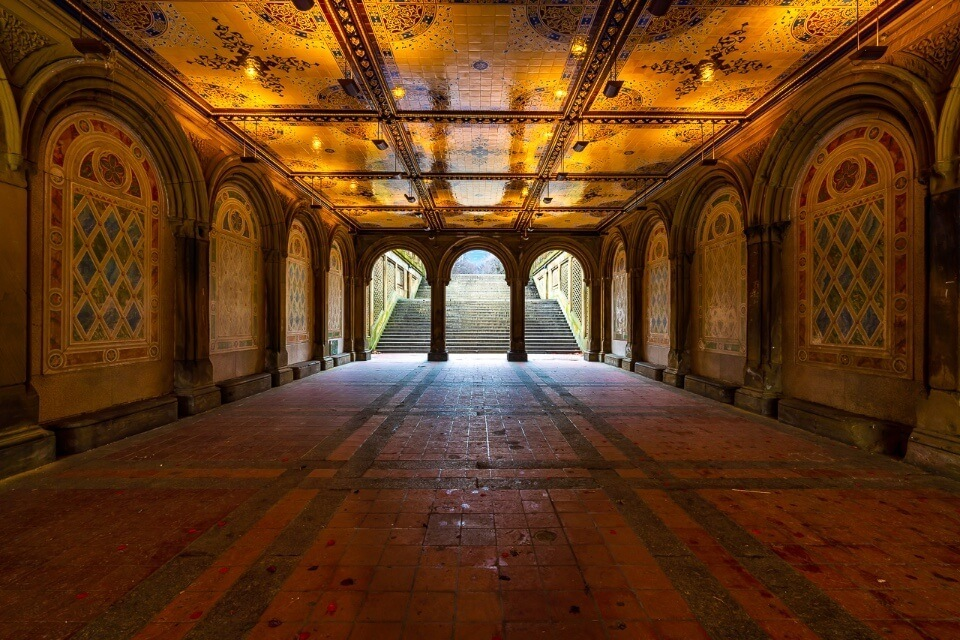 Bethesda Terrace is one of the most iconic and best photography locations in NYC