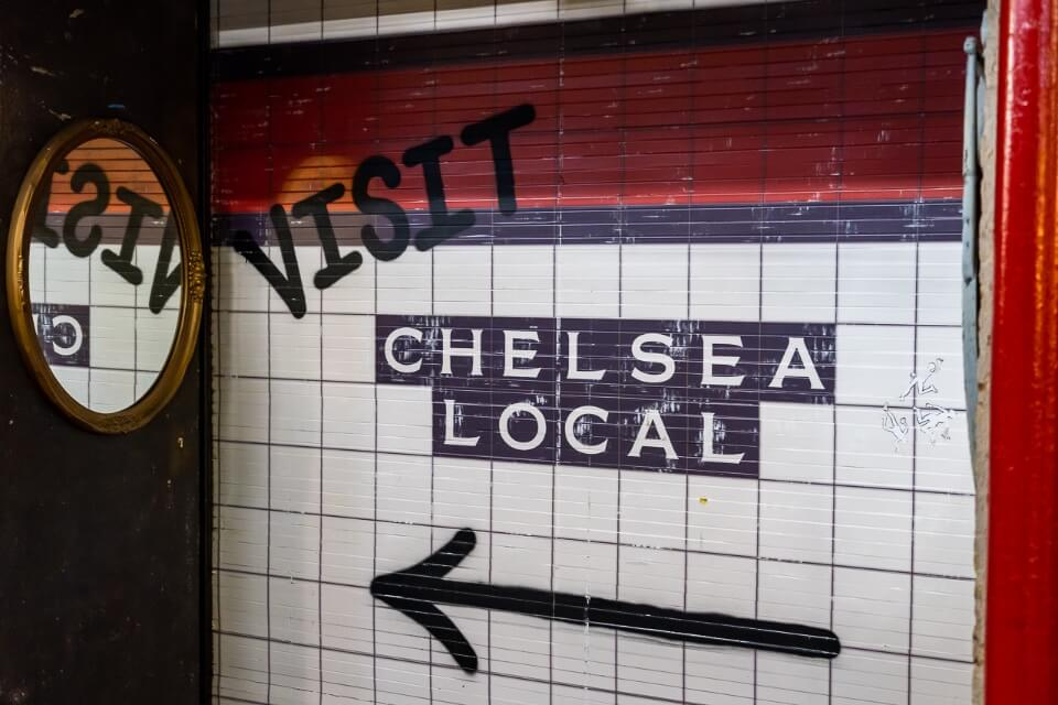 Chelsea market is a very photogenic part of the city to take pictures