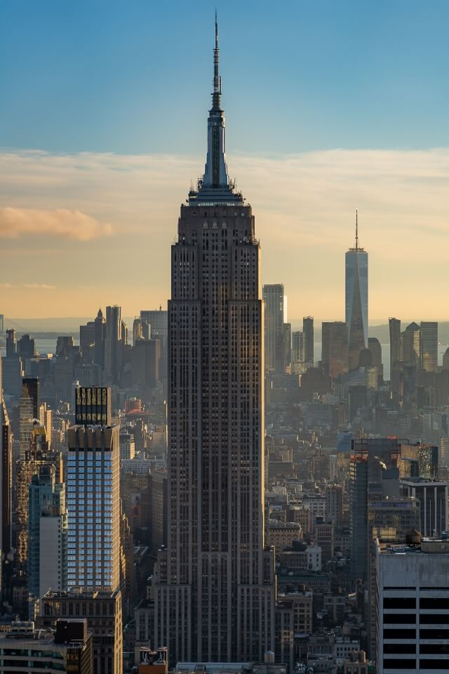 Best Photography Locations in NYC Empire State and One World Trade Center from Top of the Rock