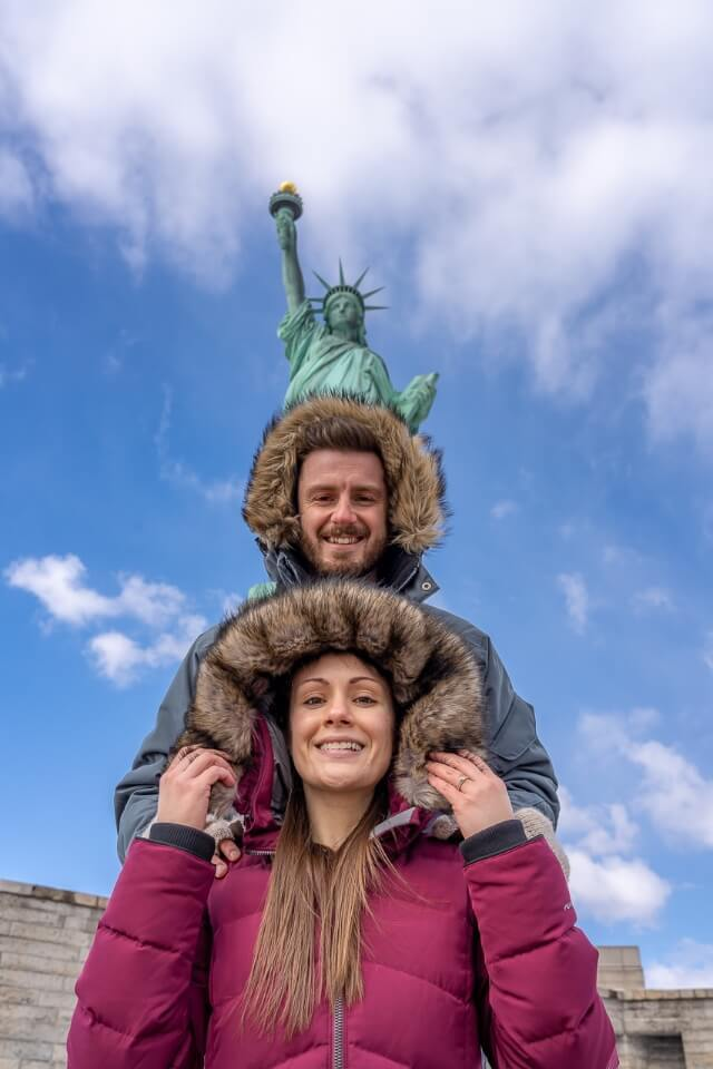Statue of Liberty is one of the most instagrammable photography locations in New York City Where Are Those Morgans 3 heads in a row