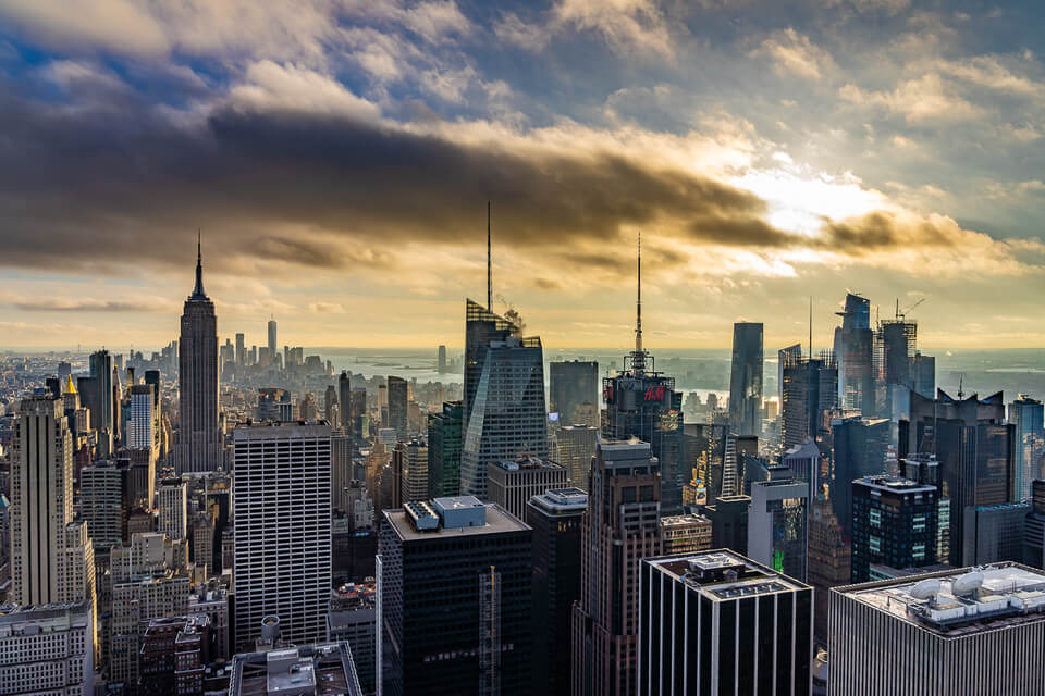 Best Photography Locations in NYC Top of the Rock View Over Midtown Manhattan At Sunset