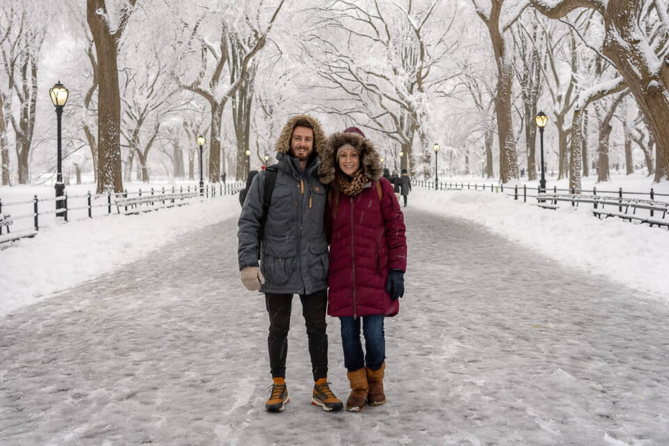 Where are those morgans in central park on a snow day in winter one of the most romantic things to do in new york city
