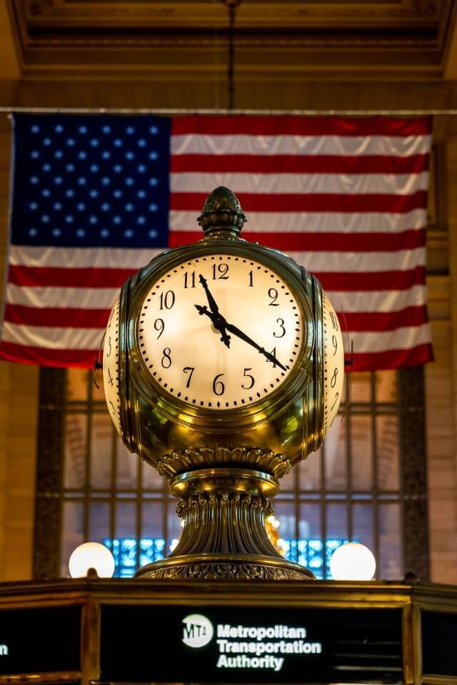 Famous clock in grand central terminal is a must visit on a first trip to new york city