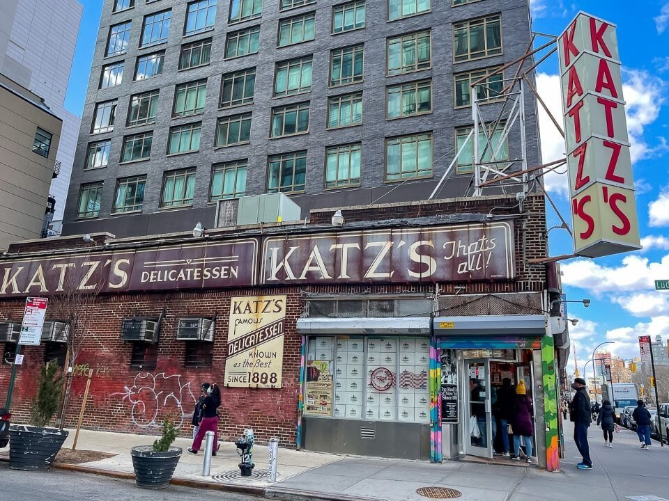 Katz's delicatessen in lower east side does amazing sandwiches well worth a visit on a first trip to nyc