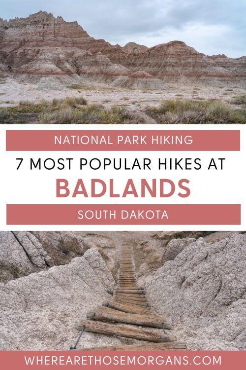 7 most popular hikes at badlands national park south dakota