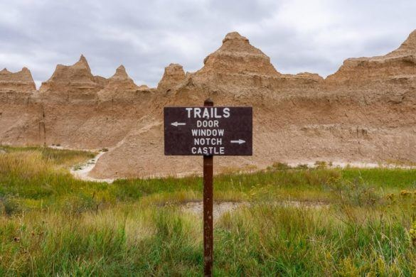 Best Hikes In Badlands National Park Every Trail For All Hiking Abilities Easy to hard and short to long Door Window Castle Notch