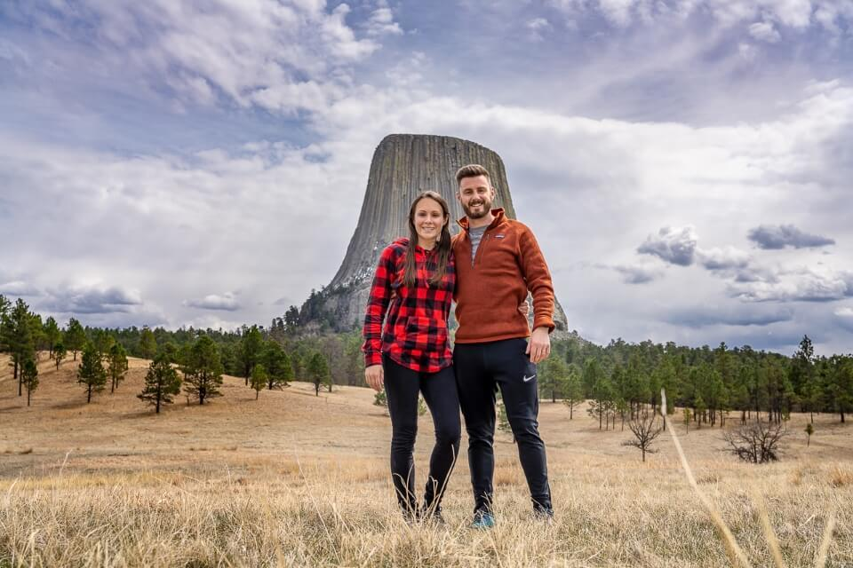 Devils tower national monument in Wyoming is the best stop off on a road trip between mount rushmore and yellowstone national park