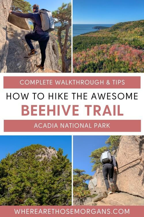 Complete walkthrough and tips how to hike the awesome beehive trail acadia national park