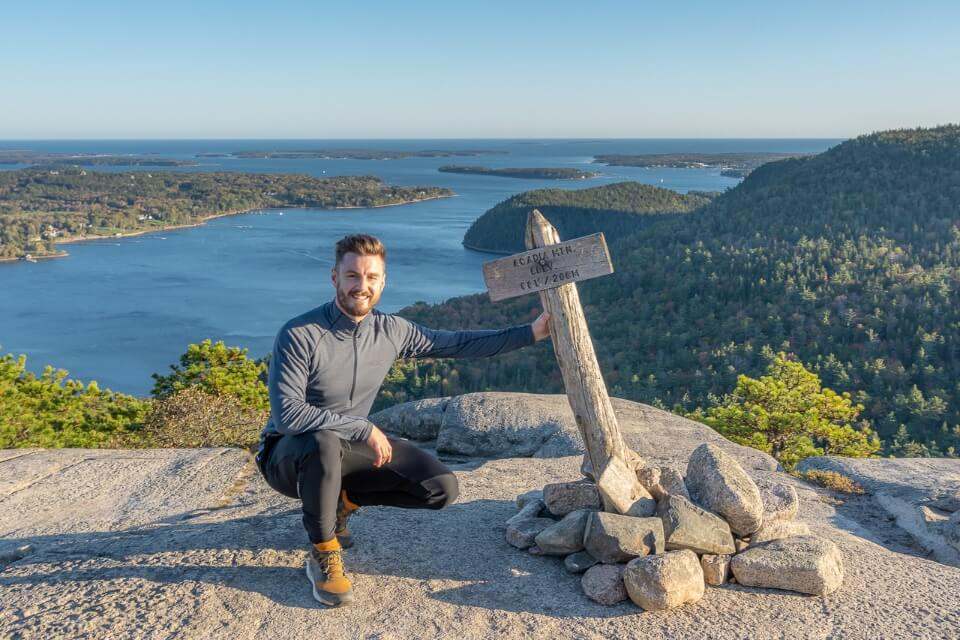 Where Are Those Morgans at the summit of Acadia Mountain peak one of the best hikes in the park