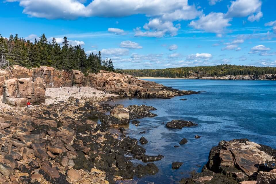 Ocean Path nice gentle flat trail for all abilities rocky coastline with ocean and clouds
