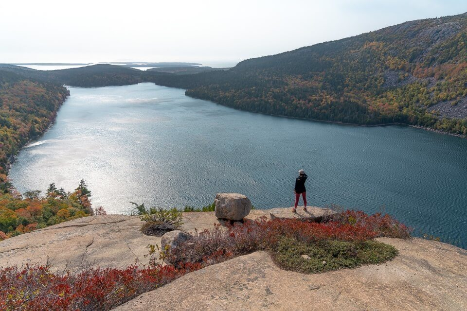 Where Are Those Morgans at the summit of South Bubble with views over Jordan Pond